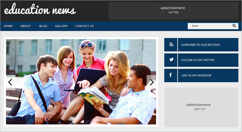 Education Responsive PHP Template