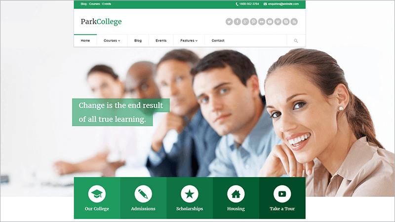 Education Responsive PHP Theme