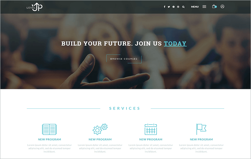 Educational Courses PHP Template