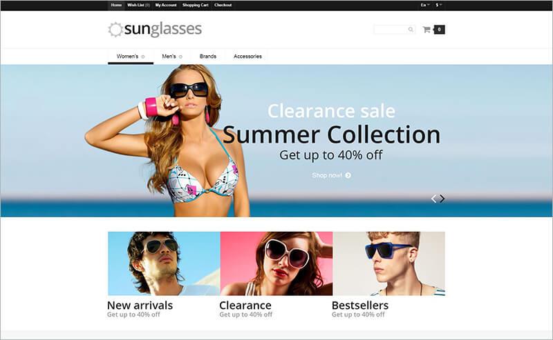 Eye Glasses Responsive PHP Template