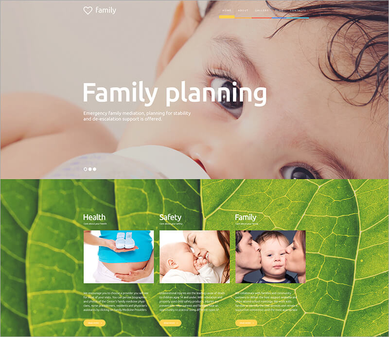 Family Planning WordPress Theme