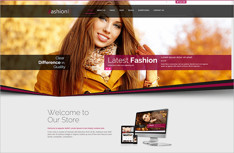 Fashion Shop PHP Template