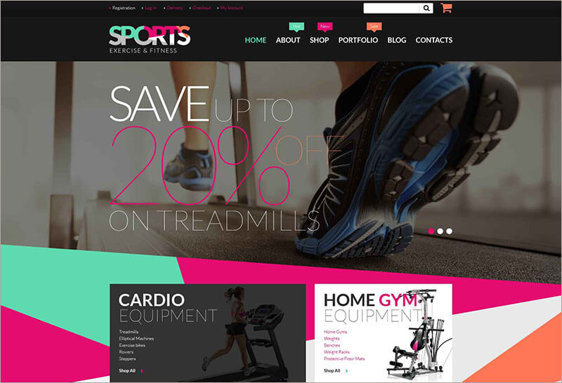 Fitness Equipment Blog Theme