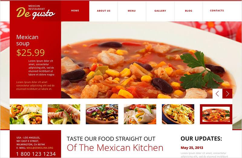 Flat Mexican Restaurant WordPress Theme