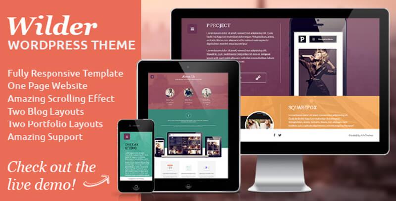 Flat One Page Responsive WordPress Theme