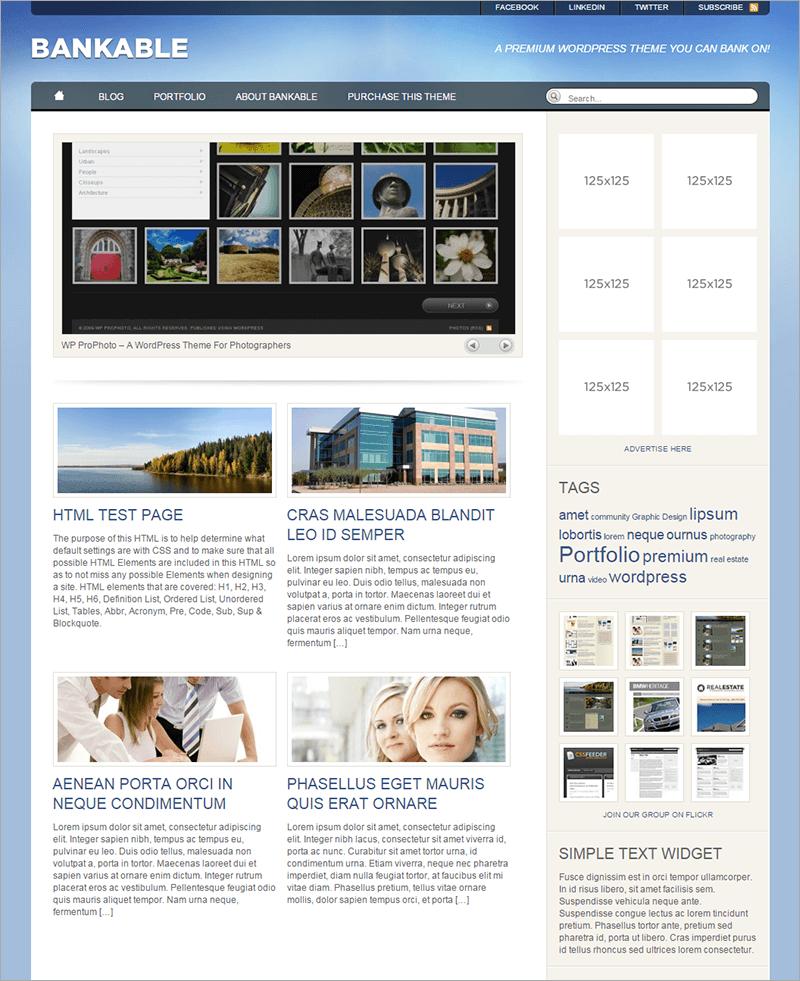 Free Accounting WordPress Theme