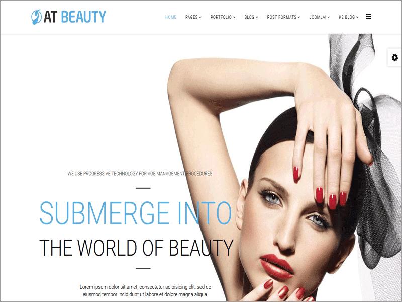 Free Beauty Joomla Template