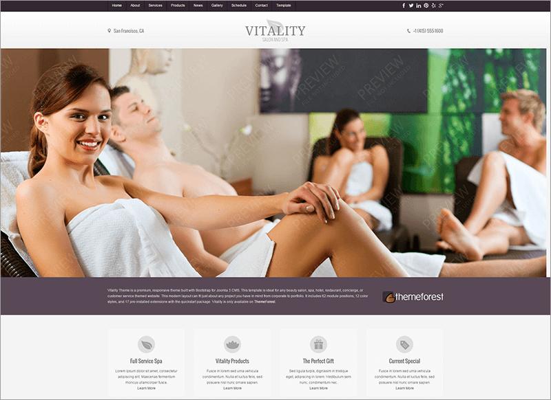 Free Joomla Health & Beauty Salon Theme