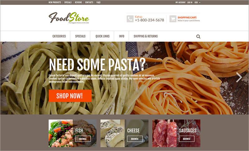 Free Online Grocery ZenCart Template