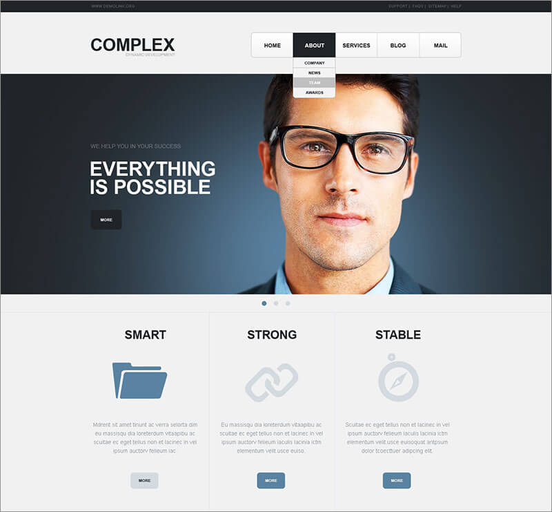 Free SEO Website Joomla Template