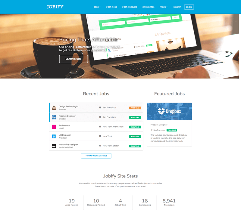 Free WordPress Job Board Theme