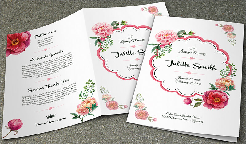 37 funeral brochure templates free word psd pdf example for Funeral brochure template