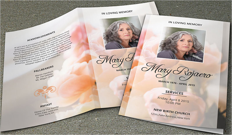Funeral Brochure Templates Free Word PSD PDF Example Ideas - Funeral brochure template