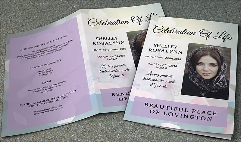 Funeral Program Template ...  Free Memorial Program Templates