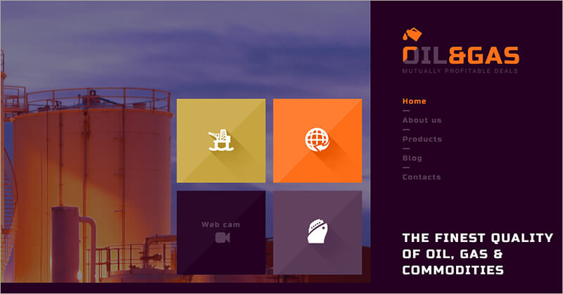 Gas and Oil Trading Blog Template