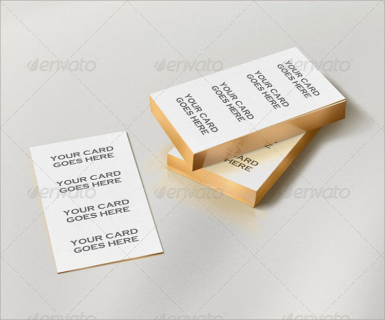 Gold Edge Letterpress Business card Mock up