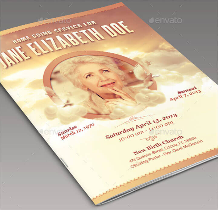 Homeward Bound Funeral Program Template