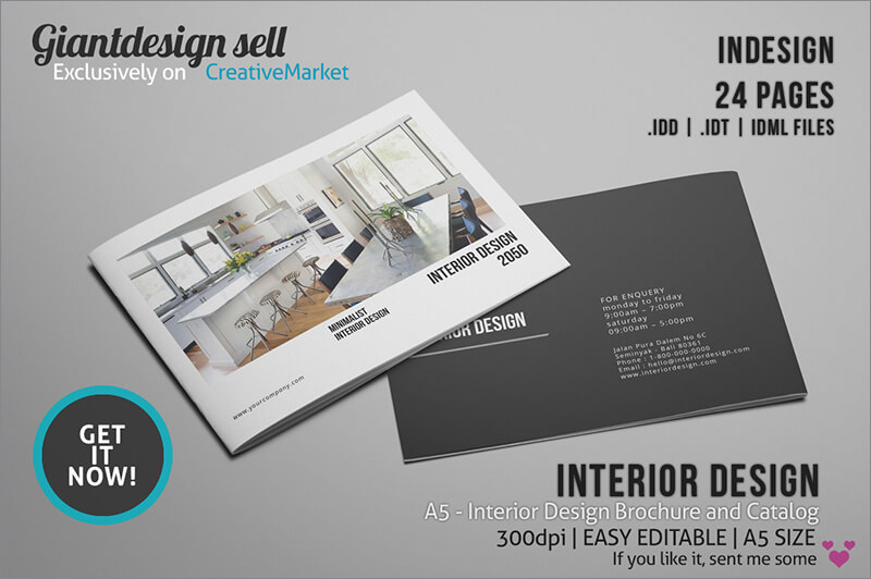 Brochure creative template for Interior design brochure