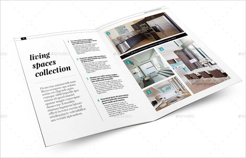 21 interior exterior brochure templates themes for Interior design brochure