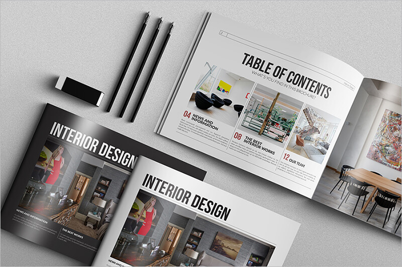 Interior Design Fashion Brochure