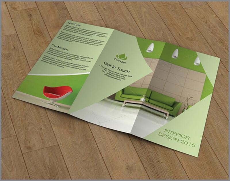 21 interior exterior brochure templates themes for Interior design profession