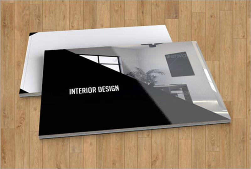 21 interior exterior brochure templates themes for Interior decoration brochure design