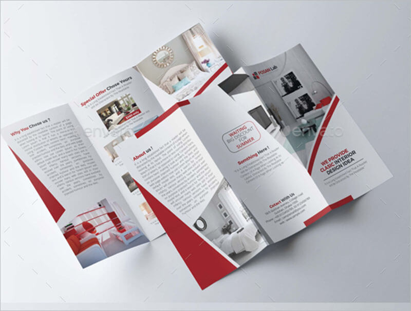 21 interior exterior brochure templates themes for Interior brochure designs