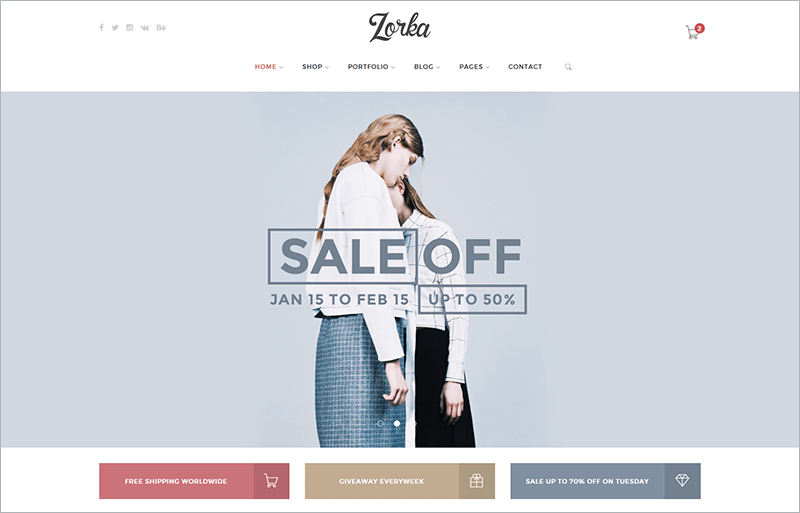 Intuitive Fashion PHP Template