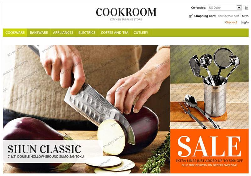 Kitchen Supplies Zen Cart Template