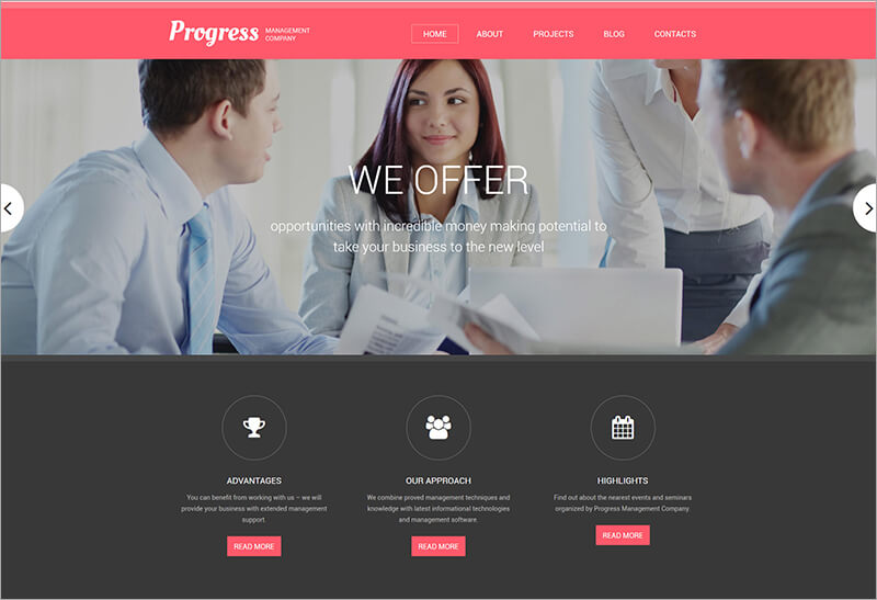 Latest Progress Drupal Template