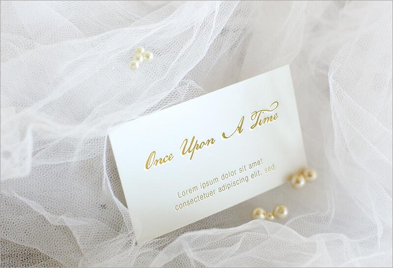 Letter Press Elegant card mock up