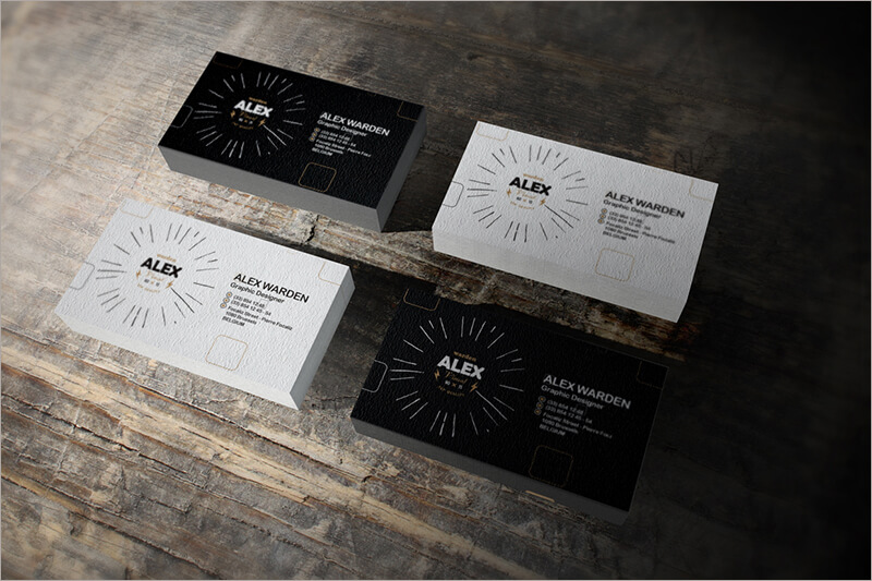 Letterpress Business Card Mock Up HD