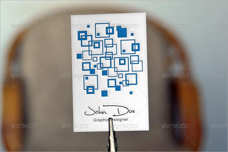 Letterpress Business Card Mock Up PSD