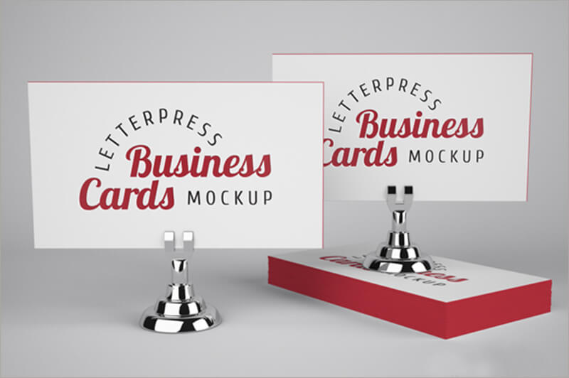 Letterpress Business Cards PSD File