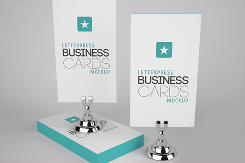 Letterpress Business Cards Paper Texture