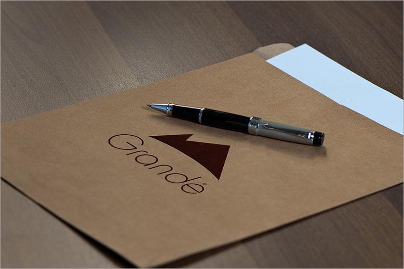 Letterpress Business Cards With Logo Mock up