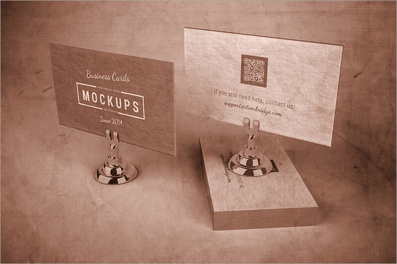 Letterpress Business Cards With Organized Layers