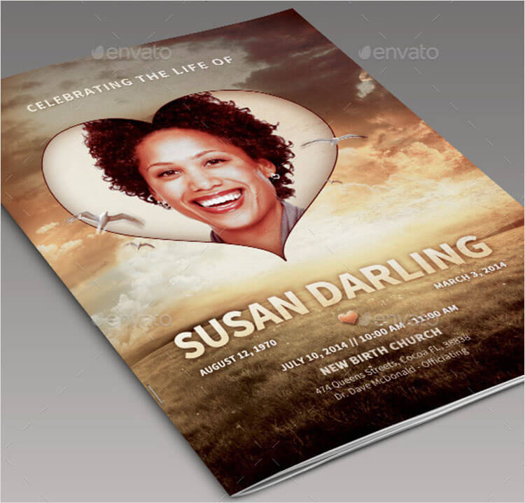 Life of Love Funeral Program Template
