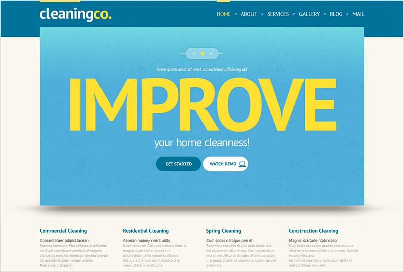 Maintenance Services WordPress Templates