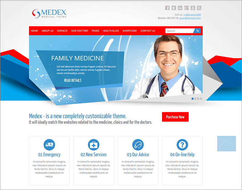Health Care Responsive Blog Template