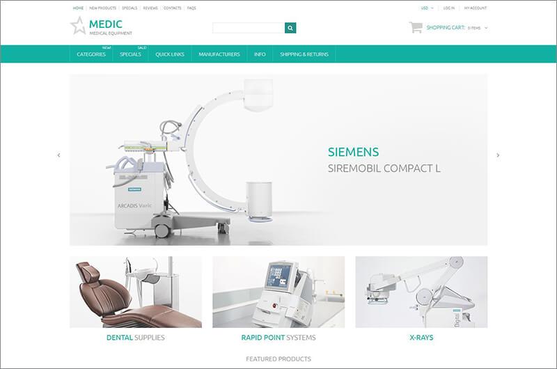 Medic ZenCart Template