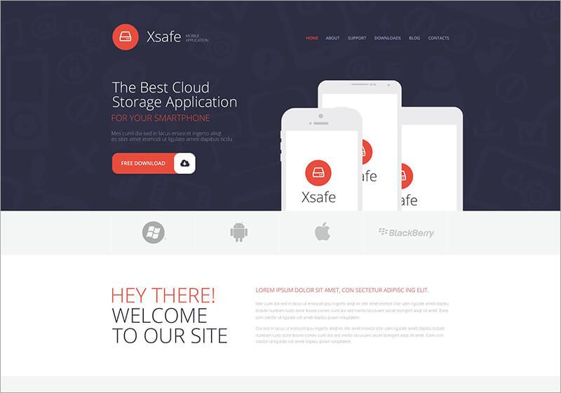 Mobile App Store WordPress Theme