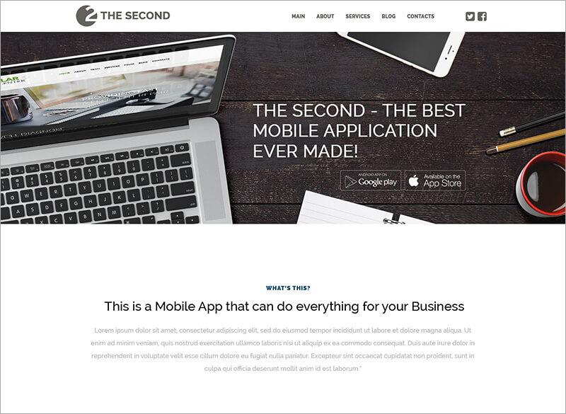 Mobile Applications WordPress Theme