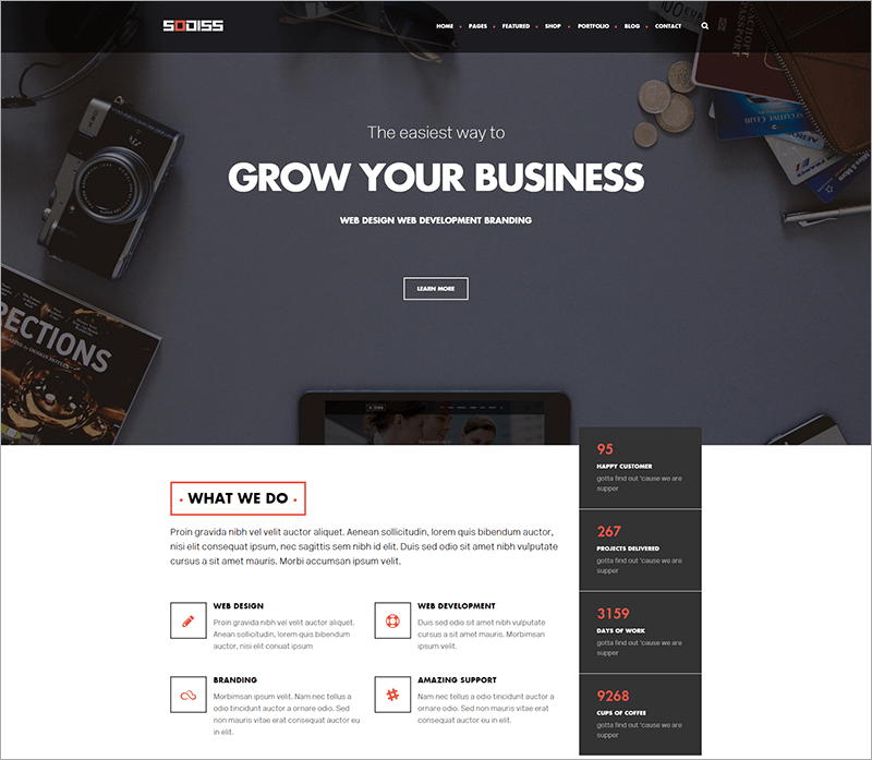 Modern Corporate WordPress Theme