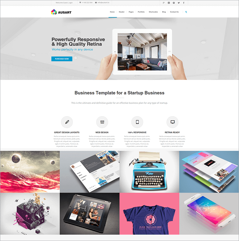 Multi purpose Bootstrap Business Template