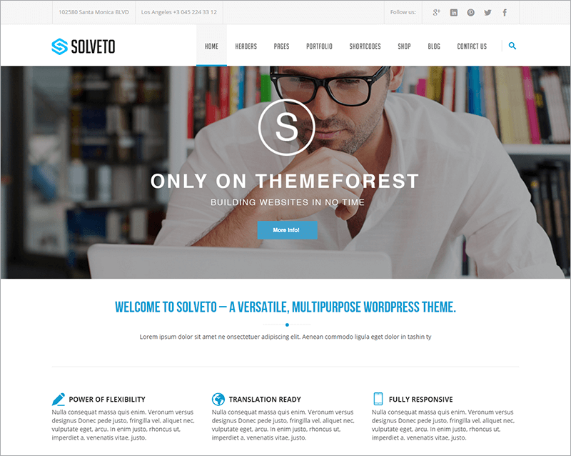 Multi purpose Business Bootstrap Template