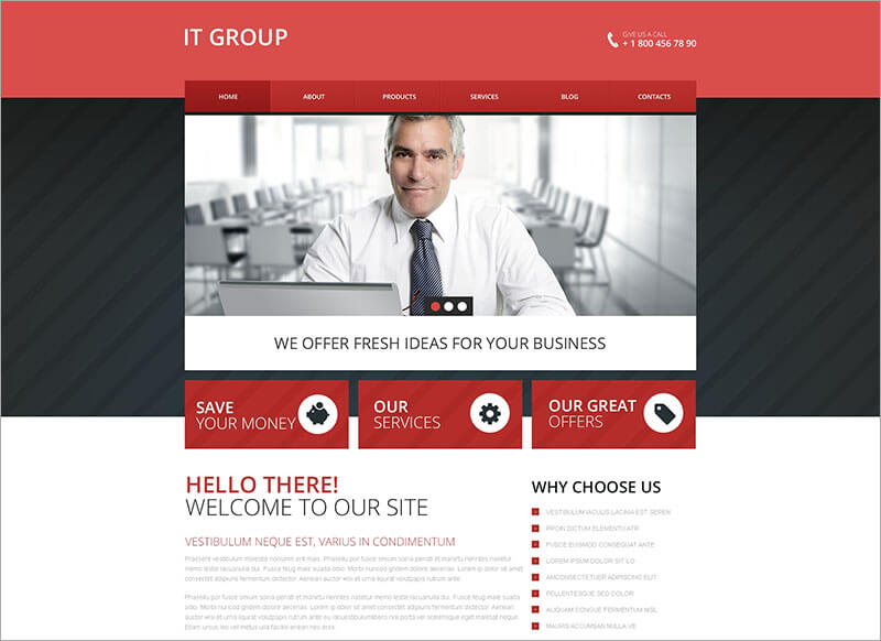 New IT Group Drupal Template