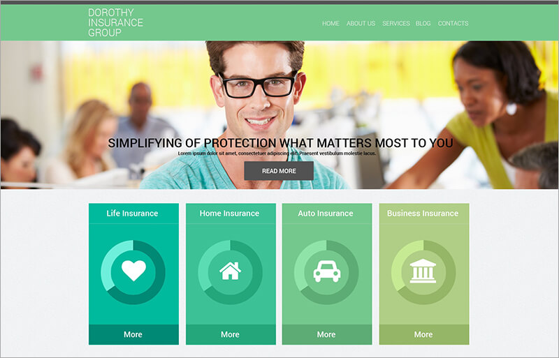 New Online Insurance Services Drupal Template
