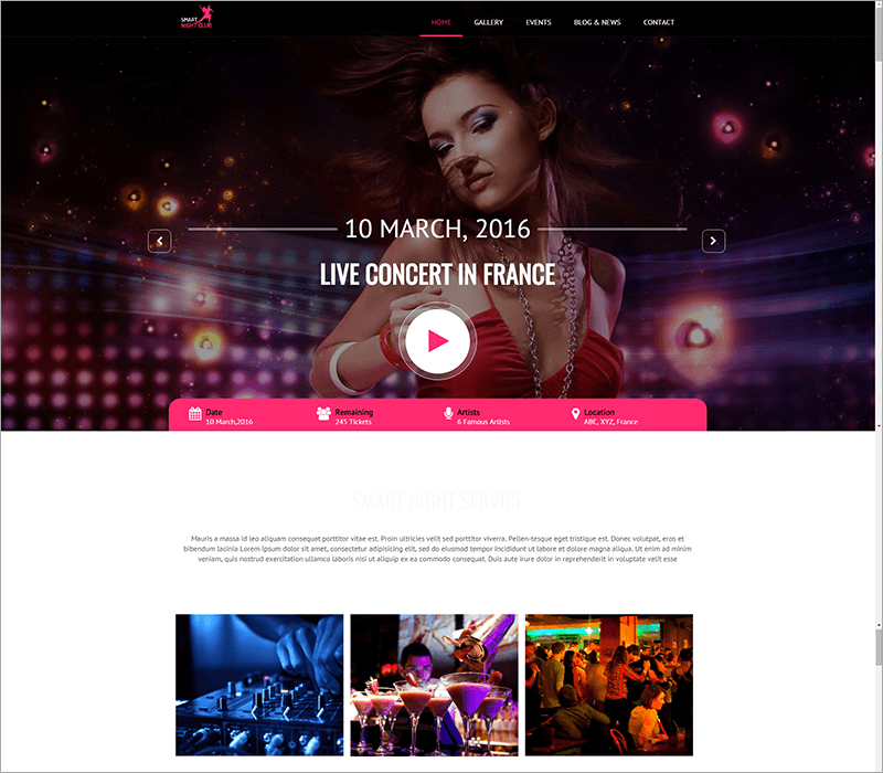 Night Club HTML Template