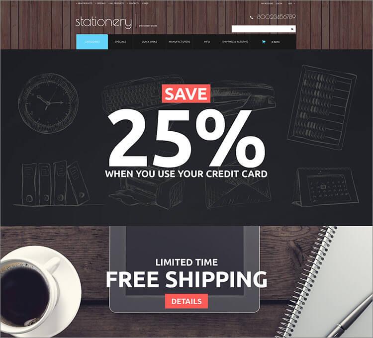 Office and School Supplies ZenCart Template